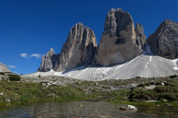 Small lakes and the Tre Cime
