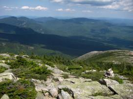 Looking down Evans Notch from South Baldface