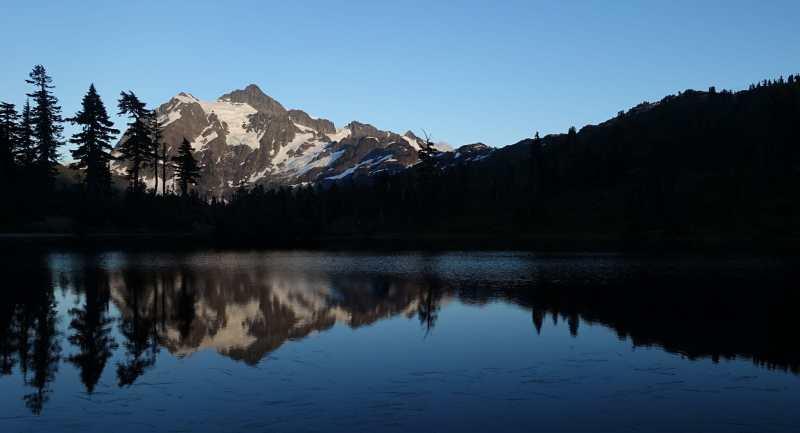 Mount Shuksan and Picture Lake