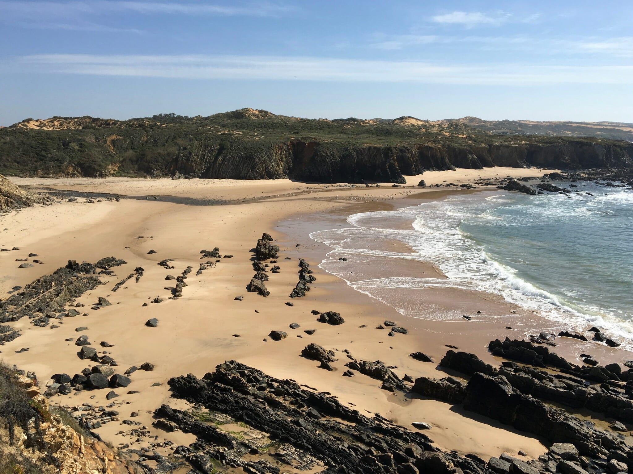 Enjoying the view before descending to Praia da Foz dos Ouriços