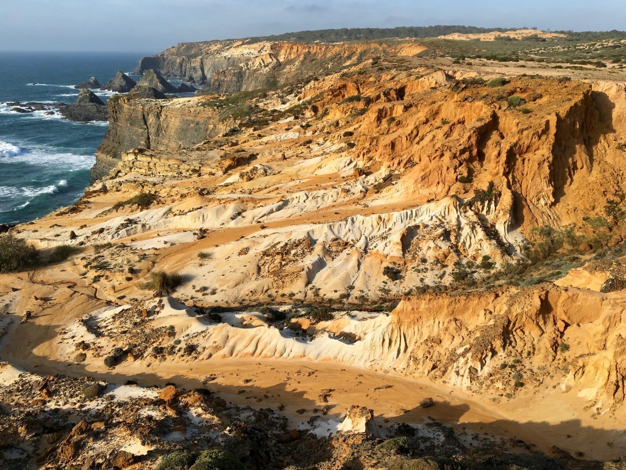 Eroding coastline near Praia da Laginha (Knights Beach)