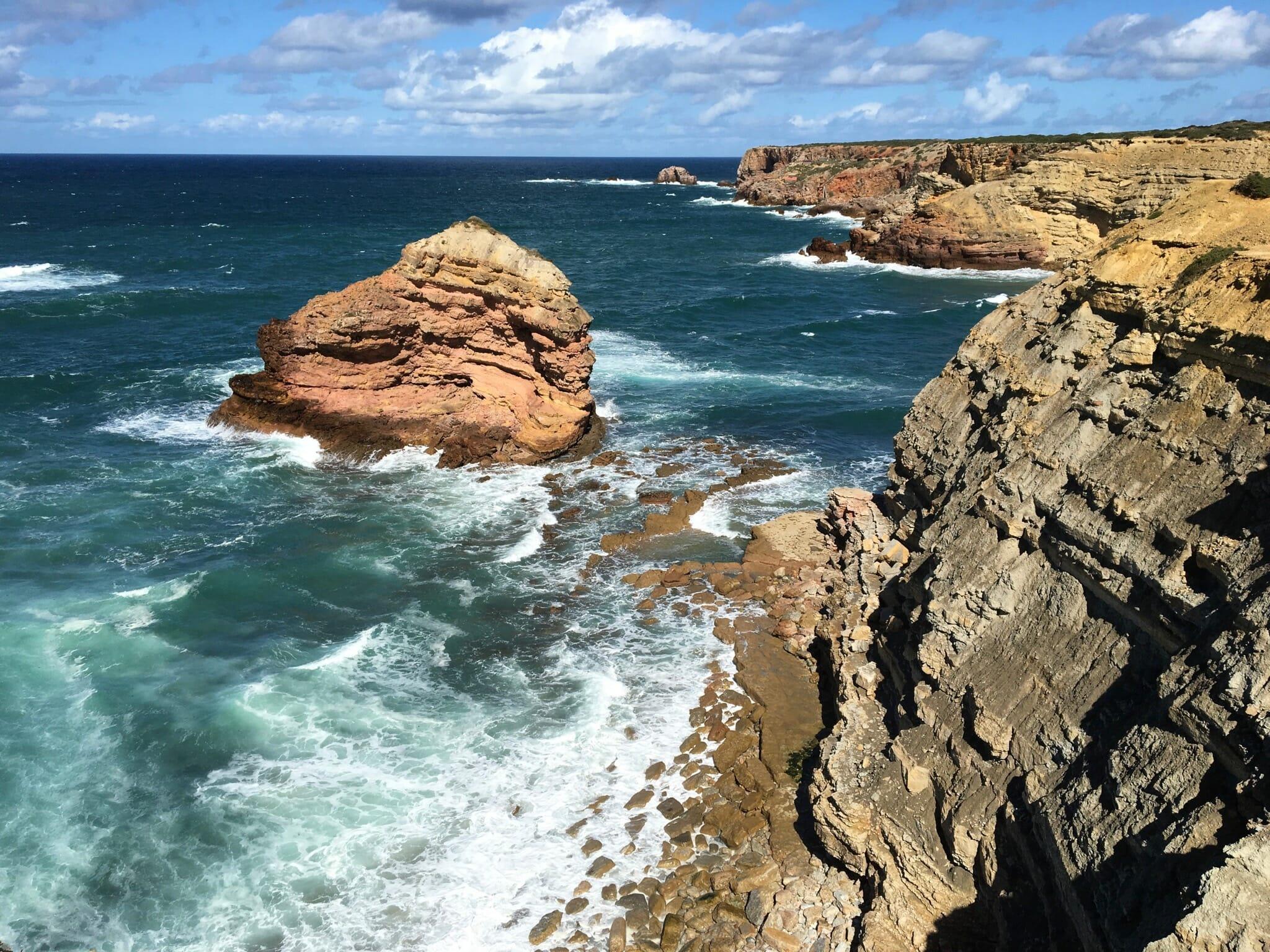 Cliffs along the Pontal da Carrapateira Circuit