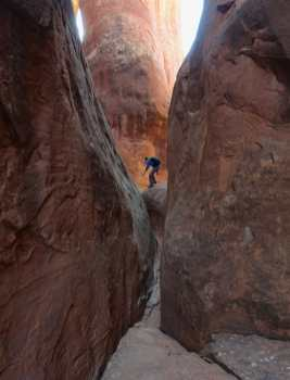 Kyle in the Fiery Furnace, Arches National Park