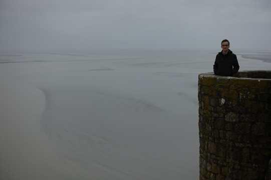 Kyle at Mont Saint-Michel