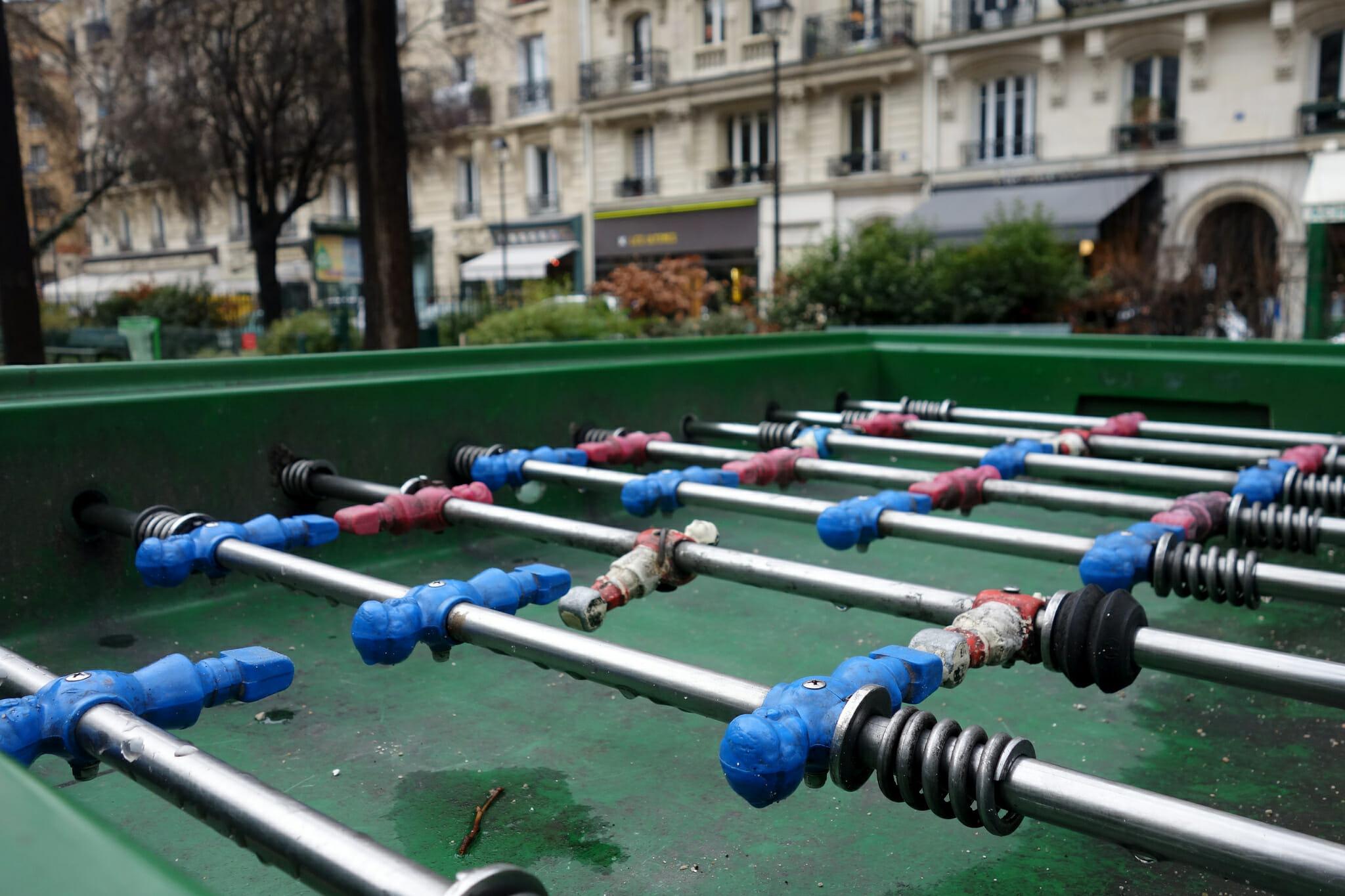 Foosball in Square Trousseau, Paris