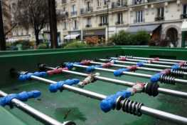 Foosball in Square Trousseau, Paris