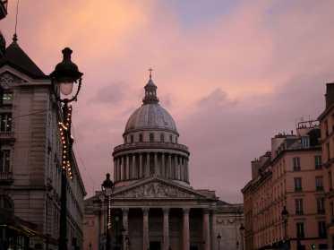 The Panthéon at sunset, Paris