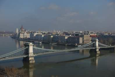 Chain Bridge from the Castle District, Budapest
