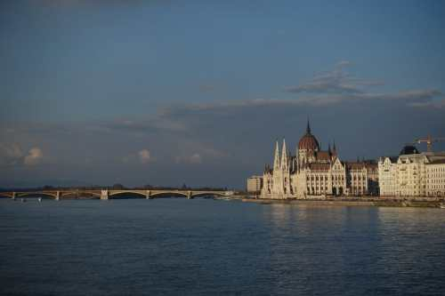Hungarian Parliament Building and Danube River