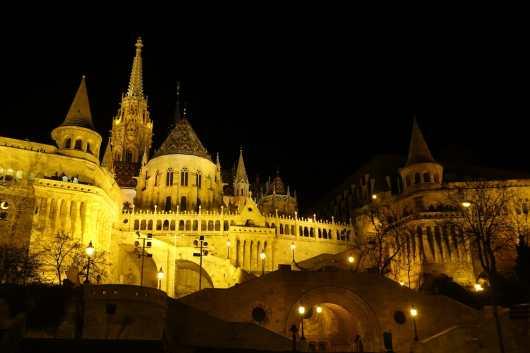 Buda Castle at night