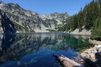 Snow Lake and mountains