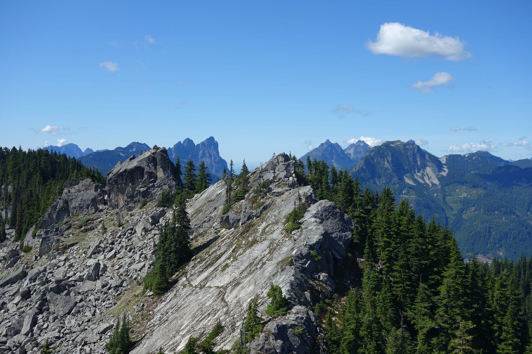 View from Beckler Peak