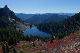 Lake Valhalla and Lichtenberg Mountain from Mount McCausland