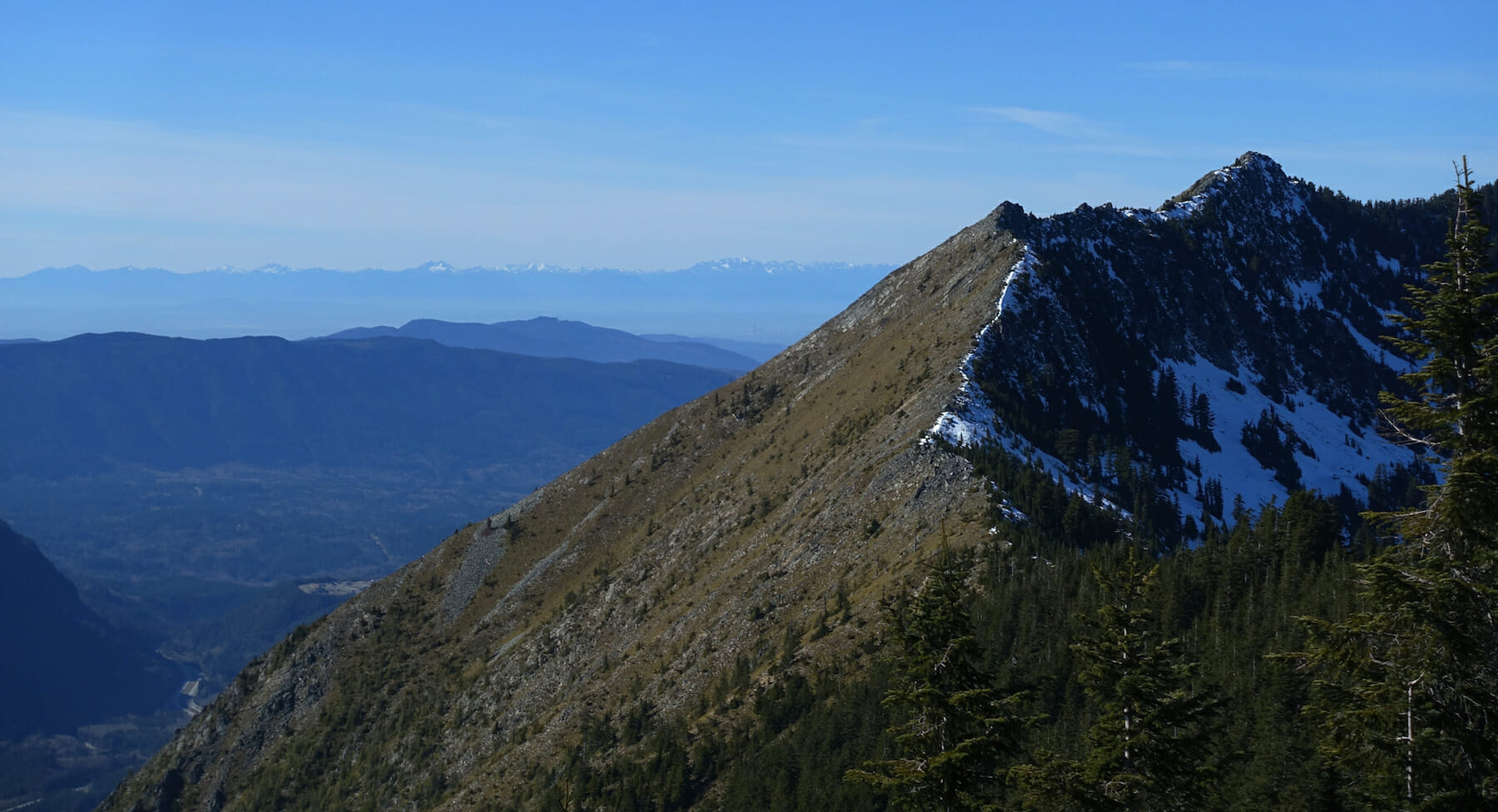 Looking west from Mount Defiance