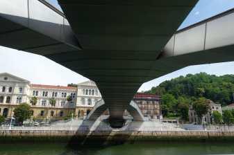 Pedro Arrupe Footbridge, Nervion River, Bilbao