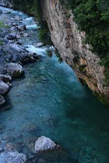 blue waters of the Cares River