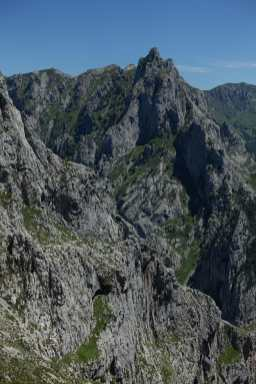 Mountain peaks and gorges