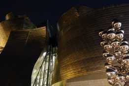 The Guggenheim Bilbao at night