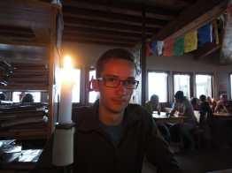 Candlelight dinner at Refuge de la Croix du Bonhomme