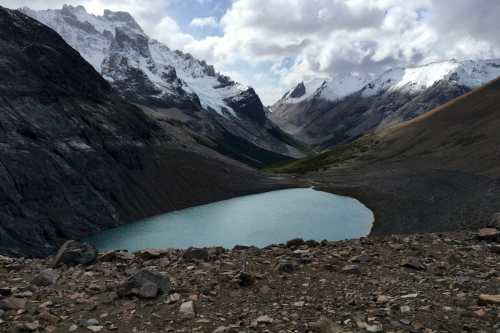Laguna Cerro Castillo and surrounding peaks