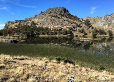 Unnamed lake near Laguna Meche, on the Laguna Altas trail in Valle Chacabuco