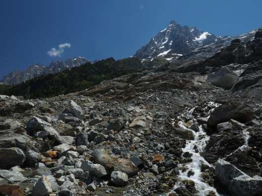 Stream near Les Bossons Glacier