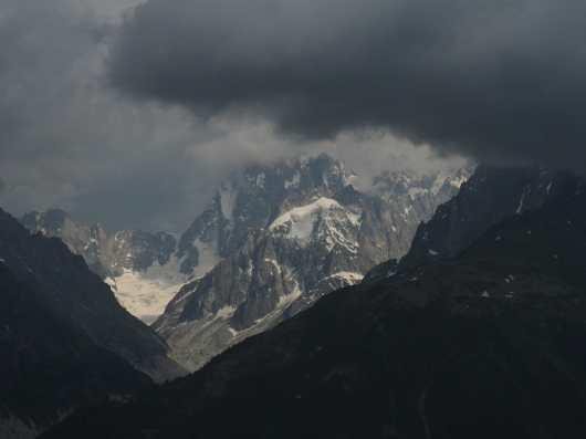 mountain view from La Flégère