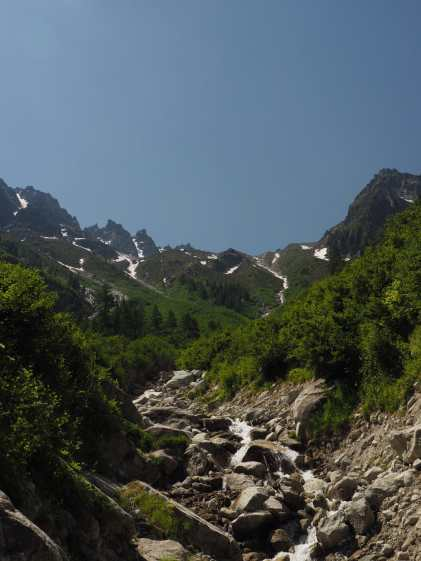 Cascade along the Bovine route