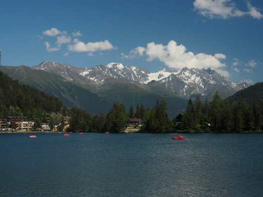 Lake and mountains in Champex