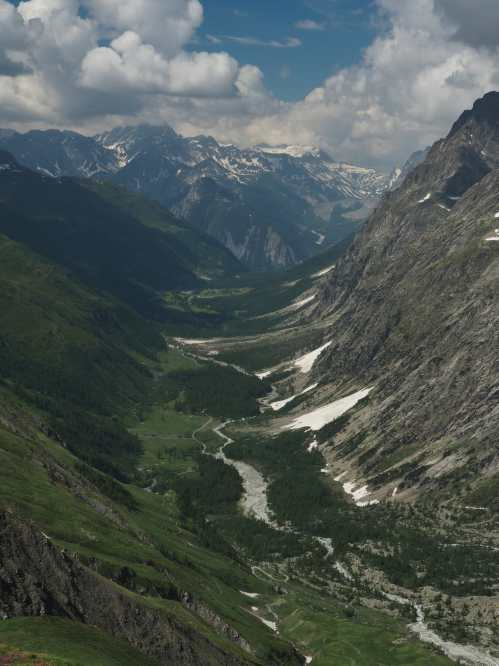 view of Italian Val Ferret from Grand Col Ferret