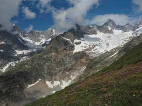 view from Grand Col Ferret