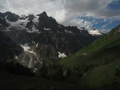 Looking back up the Val Ferret