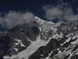 Mont Blanc from Tête de la Tronche