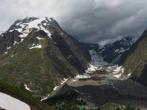 View toward Glacier du Miage