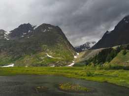 Glacier du Miage moraine