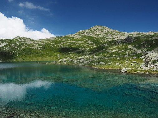 Blue waters of Lower Lac Jovet