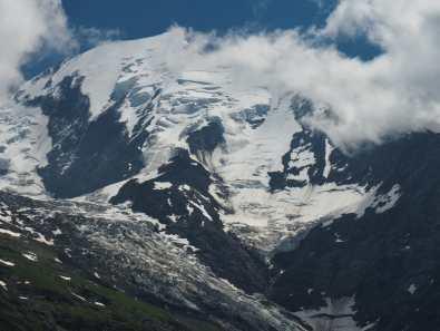 Mont Blanc and Bionnassy Glacier