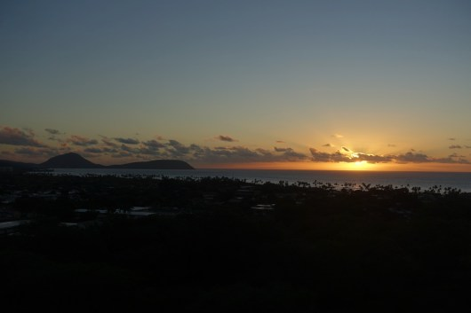 Sunrise as we arrived at Diamond Head