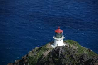 Makapu'u Point Lighthouse and the Pacific Ocean