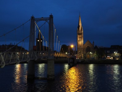 Bridge and River Ness at night, Inverness