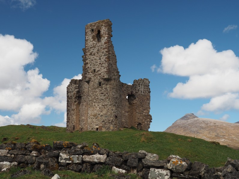 Ardvreck Castle with Quinag in the background