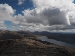 Looking back down the ridge we ascended, Quinag