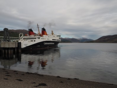 Ferry preparing to depart on Loch Broom