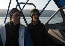 Gary and Kyle on the boat shuttle