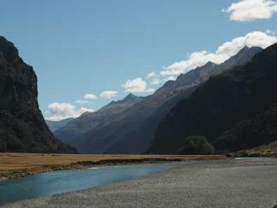 West Matukituki River and mountains