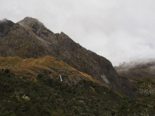 Mountains and waterfalls along the Routeburn Track
