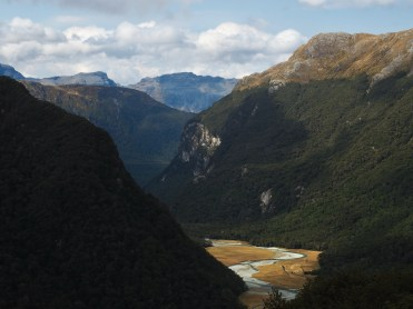 View from Routeburn Falls