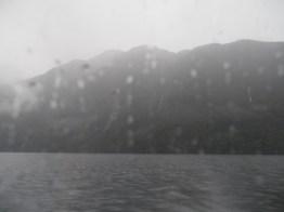 View of Lake Te Anau from the water taxi to Glade Wharf