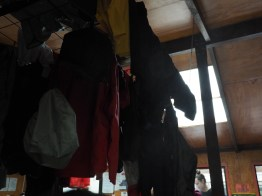 Clothes drying in Clinton Hut