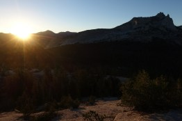 Sunrise and Cathedral Peak